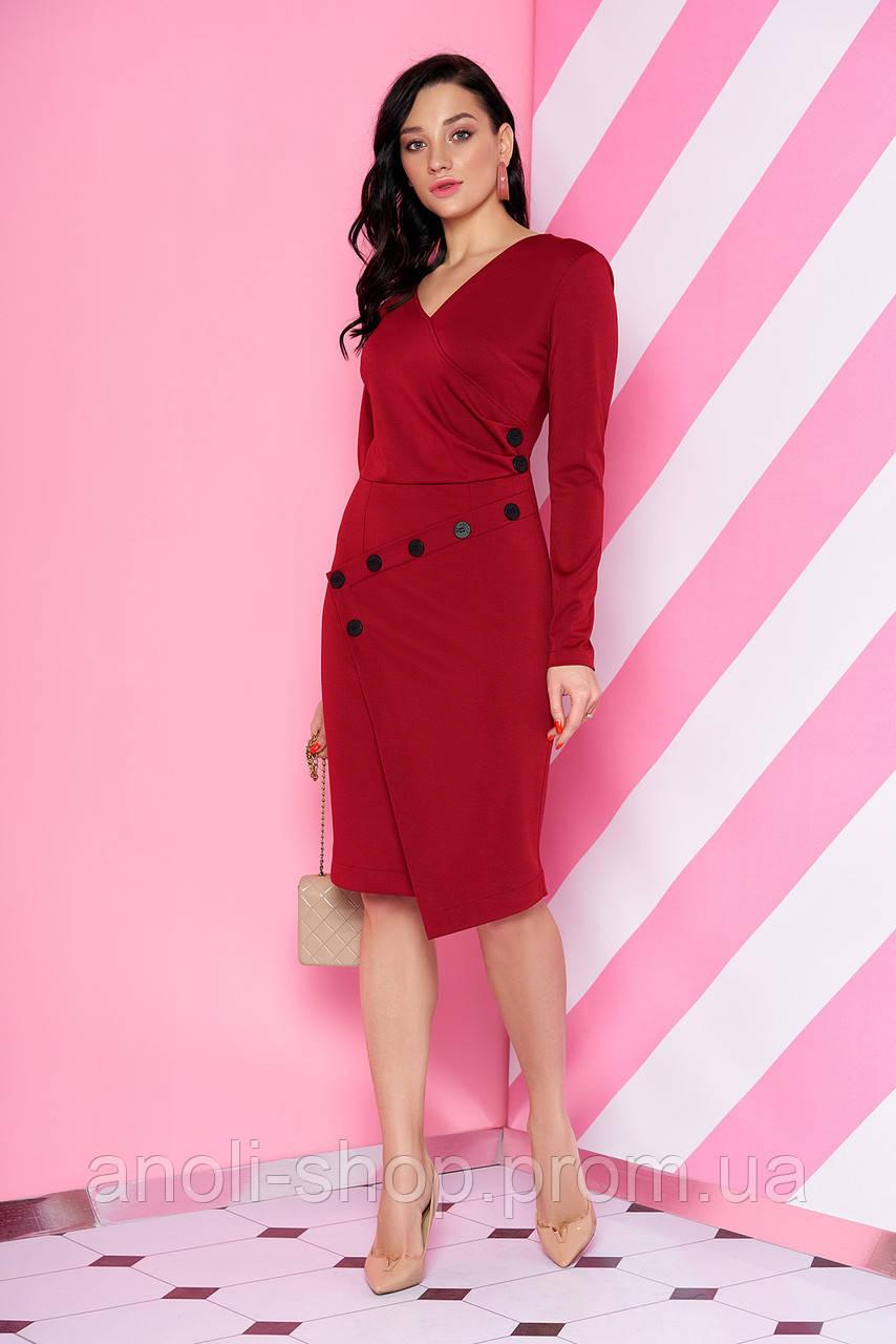 63d137996a1 Трикотажное бордовое платье - купить по лучшей цене в Харькове от ...
