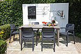 Комплект садових меблів TISARA WITH FUTURA графіт ( Keter ), фото 5