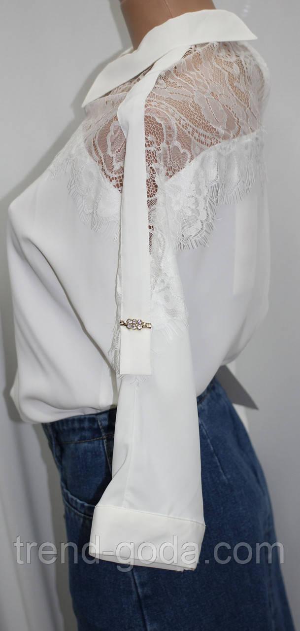 2e6333f55f2 ... Стильная белая женская блуза