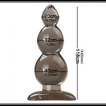 Анальная пробка Leten Torpedo силиконовая, фото 2