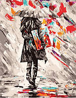 Картина по номерам Иду под зонтом (40 х 50 см, без коробки)