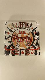 "Салфетки столовые (ЗЗхЗЗ, 20шт)  La Fleur  ""Party"" (1 пач)"