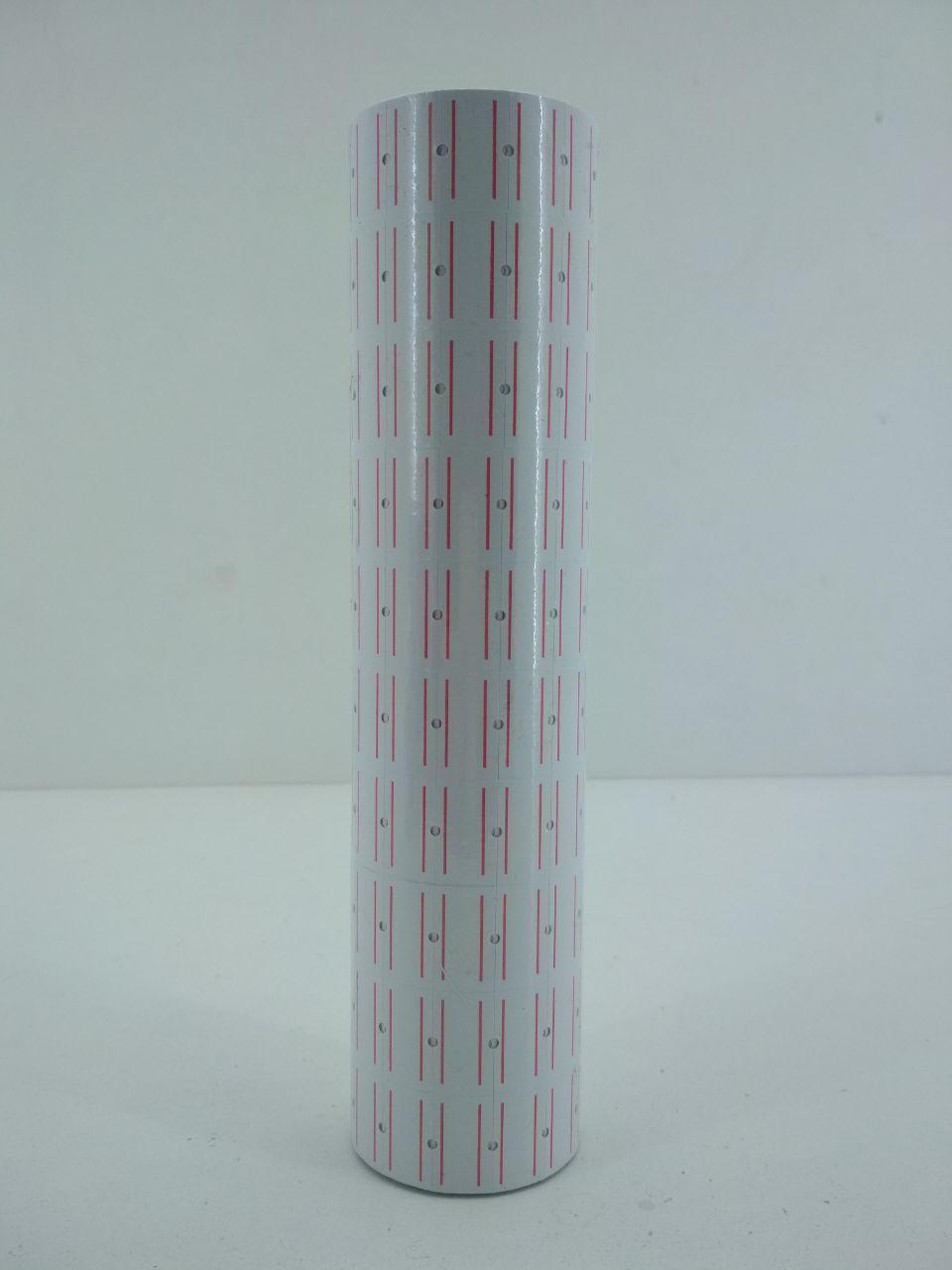 Ценник бумажный для этикет пистолета белый 12 Х22 мм 400 лейб 4,8 метра 10 шт