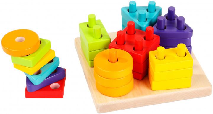 Геометричний сортер. Дерев'яна розвіваюча іграшка Cubika