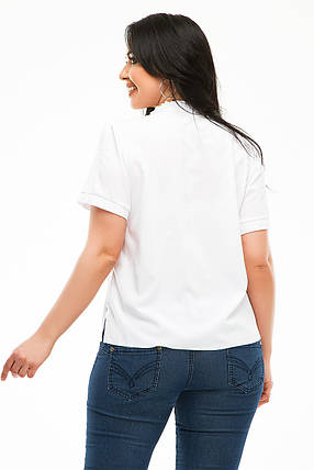 Блузка 5483 белая, фото 2