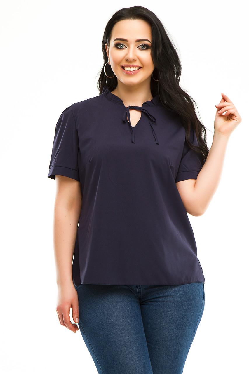 Блузка 5483 темно-синяя