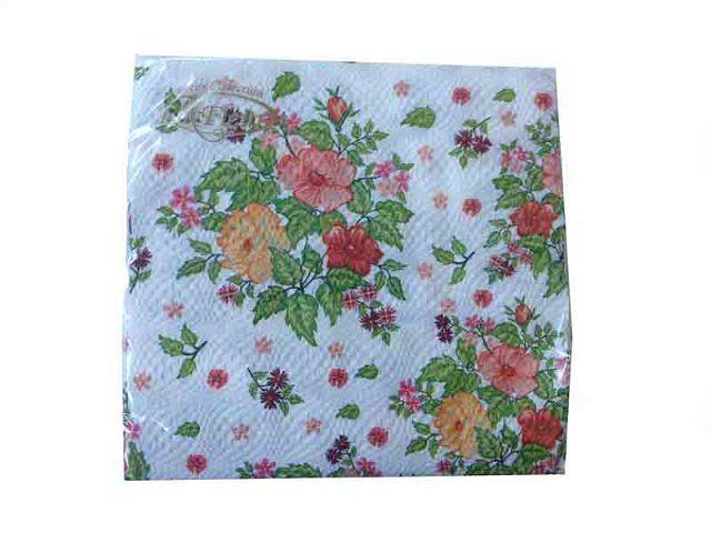 Салфетки столовые (ЗЗхЗЗ, 20шт)  La Fleur Шиповник (008) (1 пач)