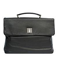 Портфель  Tony Perotti Contatto 9160-35 nero кожаный черный