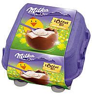 Шоколадные яички в лотке Milka «Löffel Ei» c молочным кремом, 144 г., фото 1