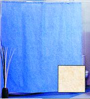 Штора для ванной комнаты  из полиэстера (180Х200 см) декор CHENILLE PLAIN с голубым узором Miranda OST-364
