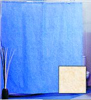 Штора для ванной комнаты  из полиэстера (180Х200 см) декор CHENILLE PLAIN с бежевым узором Miranda OST-365