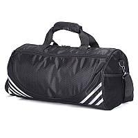 2e09780922e5 Спортивная мужская/женская сумка тканевая - модель 1-2 (Черная/Серебро)