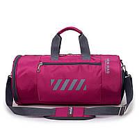 Спортивная женская сумка тканевая - модель 15-1 (Фиолетовая)