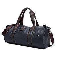 Спортивная мужская/женская сумка эко кожа - модель 21-3 (Синяя)