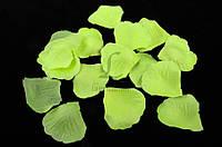 (Цена за 1400шт) Искусственные лепестки роз для творчества, зеленого цвета, длина 4.5см,  ширина 4.5см, Декоративные лепестки роз, Цветные лепестки