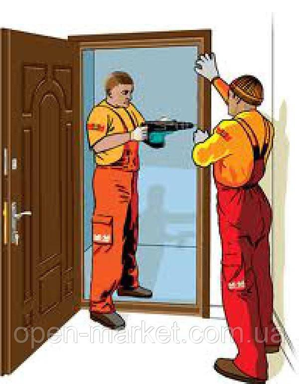 Установка, монтаж входных дверей, Николаев