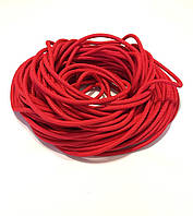 Жгут спортивный резиновый в тканевой оплетке ( резина, d-10 мм, I-300 см, красный ) rez.zhyt10red, фото 1