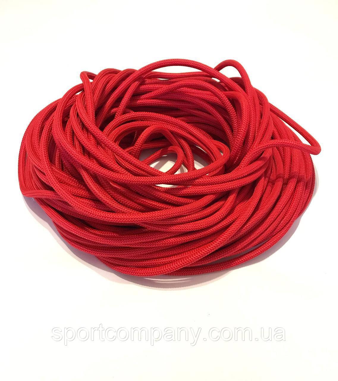Жгут спортивный резиновый в тканевой оплетке ( резина, d-10 мм, I-300 см, красный ) rez.zhyt10red