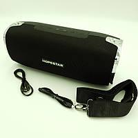 Беспроводная аккумуляторная колонка Bluetooth акустика FM MP3 AUX USB Hopestar A6 черный