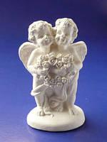 Гипсовая фигурка, Ангелы пара, 8,5*6*3,5см