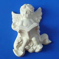 Гипсовый элемент, Ангел библия, 11,3*8*4см
