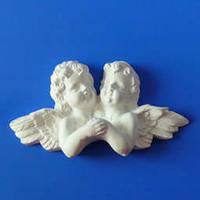 Гипсовый элемент, Ангел двойн. большой, 13,5*7*3см