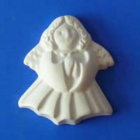Гипсовый элемент, Ангел молящийся, 6,2*5,3*1,1см