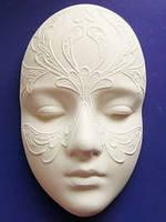 Гипсовая маска Сафо узор, 14,5*9*4см