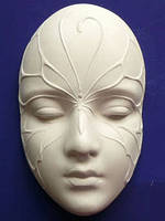 Гипсовая маска Сафо Бабочка, 14,5*9*5см