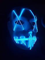 Неоновая маска Новинка 2019!!Синяя, фото 2