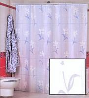Штора для ванной комнаты  из полиэстера (180Х200 см) декор COUNTRY FLOWER с белым узором Miranda OST-366