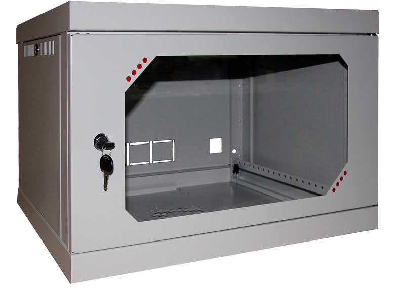 Шкаф серверный настенный 6U, 600x450x377 мм (Ш*Г*В), акрил
