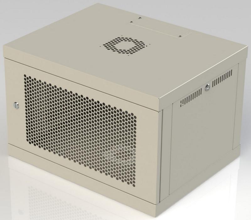 Шкаф серверный настенный 9U 450, перфорация