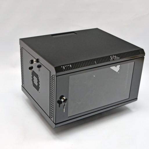Шкаф 6U, 600х500х343 мм (Ш*Г*В), акриловое стекло, черный