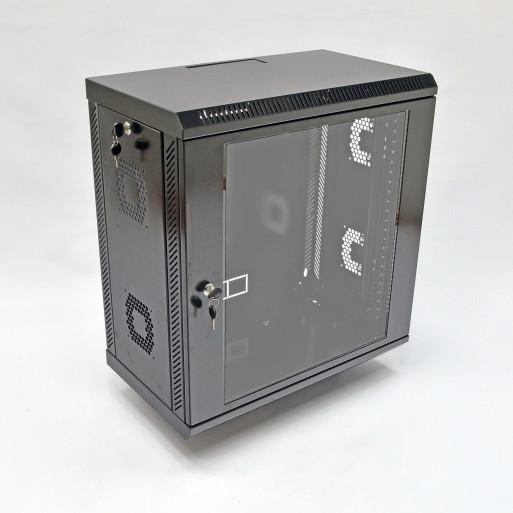 Шкаф 12U, 600х350х610 мм (Ш*Г*В), акриловое стекло, черный