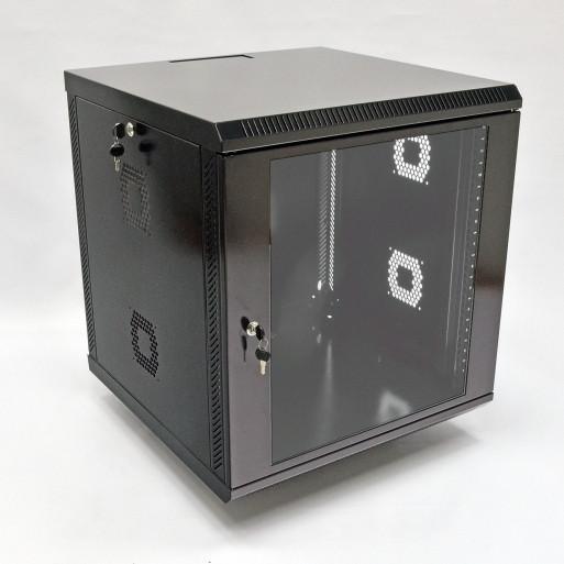 Шкаф 12U, 600х500х610 мм (Ш*Г*В), акриловое стекло, черный