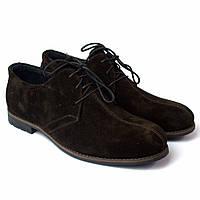 Туфли замшевые коричневые со строчкой мужская обувь Rosso Avangard Kardinall Brown Vel, фото 1
