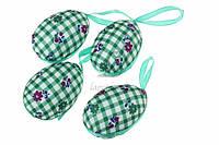 """(Цена за 4шт) Подвеска """"Пасхальное яйцо"""" для декора, зеленая, Пасхальный декор, Украшения для пасхи"""