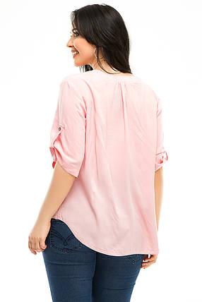 Блузка 5238 розовая, фото 2