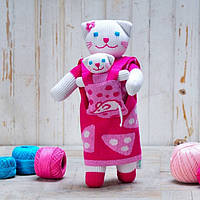 Кукла Мама кошка с малышом , Игрушка ( Фрея )