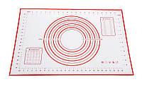 Силиконовый армированный коврик для раскатки теста, коврик для выпечки с разметкой 60х40см, фото 1