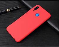 Чехлы Candy для Xiaomi redmi Note 7 силиконовые матовые все цвета Красный