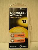 Duracell Hearing Aid ZA13 батарейки для слуховых аппаратов