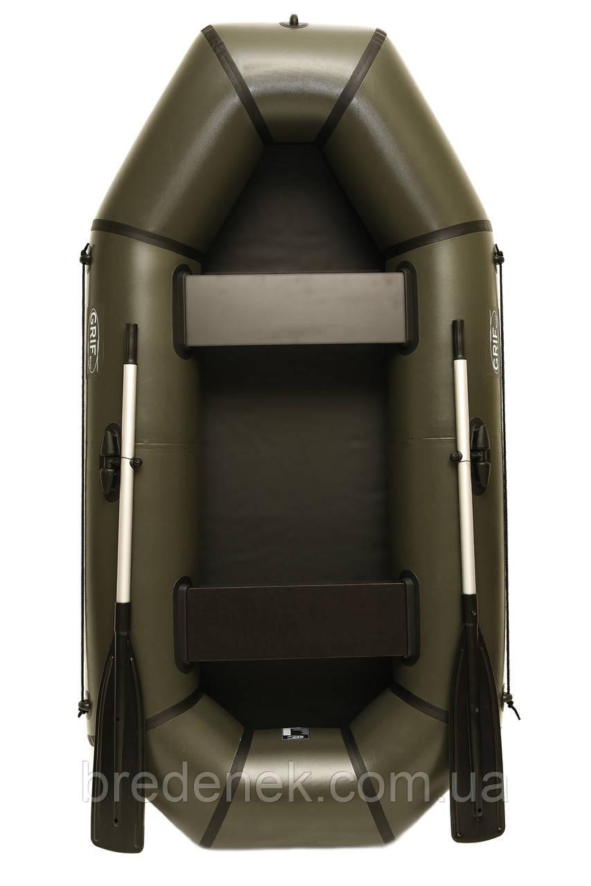 Човен надувний пвх двомісна Grif boat GL-240L