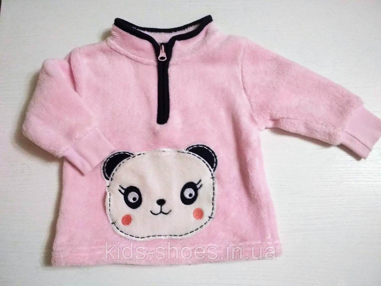 Детская кофта-джемпер плюшевая Панда 62-68 рост