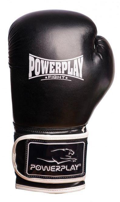 Боксерские перчатки PowerPlay 3019, черные (MD)