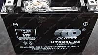 Аккумулятор 12V 20Аh кислотный (170x85x150, черный, mod:UTX 20L-BS) (+электролит) OUTDO