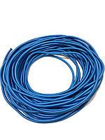 Жгут спортивный резиновый в тканевой оплетке ( резина, d-8 мм, I-100 см, голубой ) rez.zhyt8blue, фото 1