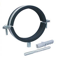 """Хомут для труб сантехнических 1/2"""" (20-25 мм) разборной с резиновой прокладкой (дюбель+шпилька)."""