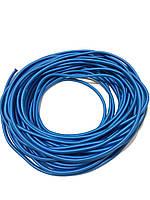 Жгут спортивный резиновый в тканевой оплетке ( резина, d-8 мм, I-300 см, голубой ) rez.zhyt8blue